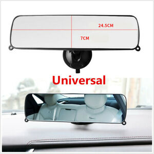 Universal Car SUV Wide Flat Interior Rear View Rearview Mirror Suction Cup Style