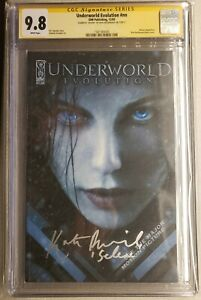 """Underworld Evolution #nn CGC 9.8 signed by Kate Beckinsale """"SELENE"""" White Pages"""