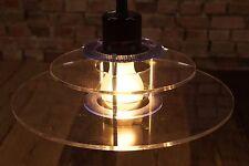 70er DANISH DECKENLAMPE ACRYL PENDELLAMPE PLEXIGLAS PENDANT LAMP LEUCHTE C9