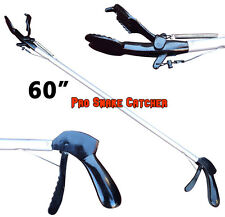 "60"" Pro SNAKE TONGS Reptile Grabber Rattle Snake Catcher WIDE JAW Handling Tool"