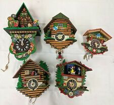 Collection of Vintage West German Made Miniature Cuckoo Clocks