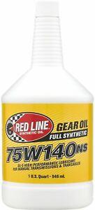 Red Line 75W140NS Cambio & da Corsa Differenziale Lsd Olio 946ml