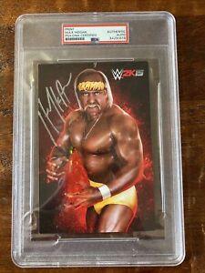 Hulk Hogan Signed WWE 2k15 Photo Card PSA DNA Coa Slabbed Autographed WWF