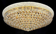 "Palace Bangle 36""  20 Light Crystal Chandelier Flush Mount Ceiling Light Gold"