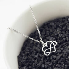 Infinity Love Necklace 925 Silver Plated Eternal Open Heart Pendant Jewelry