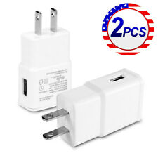 2X 2A USB Home Wall AC Adapter Charger US Plug For Samsung S6 S7 S8 Note LG HTC