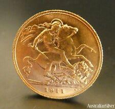 Australian Gold Half Sovereign 1911P Nice Rare Perth Mint
