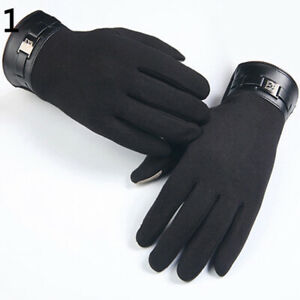 KQ_ DI- KF_ Bike Gloves Winter Thermal Warm Full Finger Touch Screen Cycling Glo