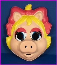 * Miss Piggy Jim Henson Muppet Adult Costume Face Mask by Ben Cooper 52299 NEW *