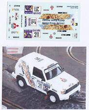 Decals 1/43e Mitsubishi Pajero Geco S.Servia Pharaons 92