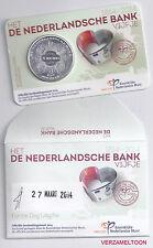 EERSTE DAG UITGIFTE 5 EURO NEDERLAND 2014: HET DE NEDERLANDSCHE BANK VIJFJE