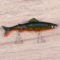 1 Stück lebensechte Angelköder Bass Süßwasser mit Haken Crankbait Kit