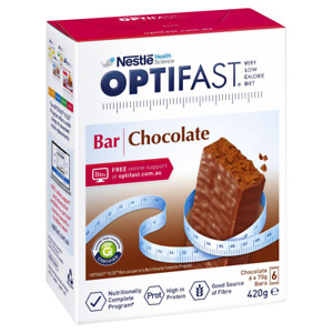 Optifast VLCD 6 x 70g (420g) Bars - Chocolate Flavour Meal Replacement Diet