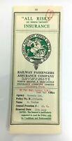 1962 Vintage RAILWAY PASSENGERS ASSURANCE COMPANY Insurance Policy