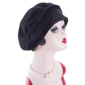 Women French Look Wool Artist Beret Cap Winter Warm Stylish Painter Hat A528