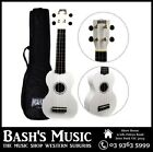 Mahalo MR1 Soprano Ukulele Beginner Starter with Bag Carry Case - WHITE