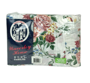 Waverly House Vintage Floral Queen Bed Ruffled Quilt Cover Brand New in Packet