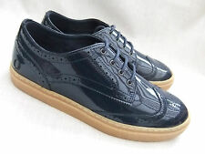 Fred Perry B6252w Davies Womens Carbon Blue Patent Leather Brogue Shoes UK 6