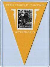 2012 PANINI GOLDEN AGE AFFIRMED YELLOW PARALLEL PENNANT #44 ~ TRIPLE CROWN GREAT