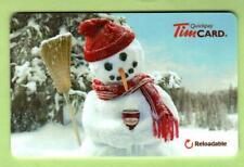 TIM HORTONS ( Canada ) Snowman 2011 Gift Card ( $0 )