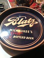VINTAGE ADVERTISING BLATZ MILWAUKEE WI BREWERING CO. METAL BEER TRAY NICE GRAPH