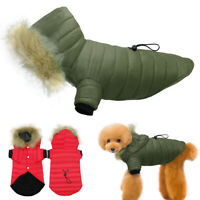 Dogs Coats for Winter with Hoody Chihuahua Clothes Pet Puppy Jacket Jack Russell
