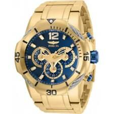 Invicta Men's Watch Bolt Chronograph Blue Dial Yellow Gold Bracelet 31165