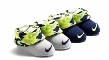 * Nike Baby Boys' Booties Infant Socks, 2 Pack, Grey / Camo, 0-6 Months Us