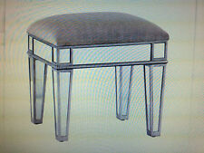 CFS88957 SILVER MIRRORED UPHOLSTERED STOOL
