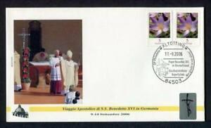 23836) Vatican 2006 FDC 'Geocover' Pope Benedict XVI IN Altotting Germany