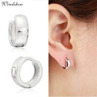Sterling Silver 925 Small Huggie Hoop Earrings Tiny Plain Hoop Mens Womens 9x3mm