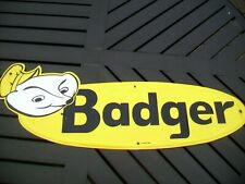 Large Vintage Badger Farm Equipment Advertising Sign