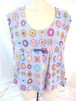 Nick & Nora Sleepwear Sleep Shirt Pajama Top Purple Sz 2X Purple Womens H370