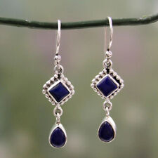 Wholesale Fashion Dangle Lot Silver Drop 925 Jewelry Hook Lazuli Lapis Earrings