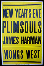 PLIMSOULS Madame Wong's West 1982 Boxing Style Cardboard CONCERT POSTER PUNK