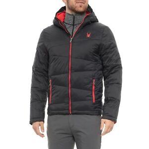 Men's Spyder Nexus No Cuff Puffer Jacket Black Size X-Large XL