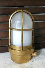 LAMPADA APPLIQUE OTTONE DA INTERNI / ESTERNI ø 100 H 190 ARREDO CASA OLD MARINA