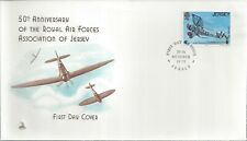 50th Anniversary Royal Air Force Association W Jersey Siskin 3A Fdc - Cacheted!