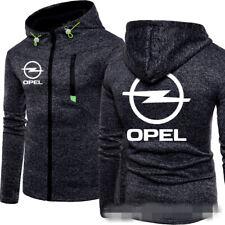 Herren Automobile Logo Sport Casual Pullover Jacke Hoodie Zipprer Mantel Opel