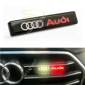 LED Car Logo Light Car Front Grille Badge Illuminated Decal Sticker for Audi