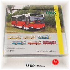 TRIX Minitrix 65400 Display Omnibusse 12 Stück gesamt #NEU in OVP#