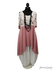 PoCo DeSiGn LAGENLOOK Tunika Long-Shirt rosa 46 48 50-52-54-56-58 L-XL-XXL-XXXL
