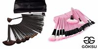 Professional Cosmetic Makeup Brush Set Kit with Synthetic Leather Case 32 Pcs