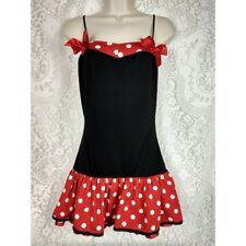 Charades Womens Sexy Mouse Costume Size M Red White Polka Dot Dress Cosplay