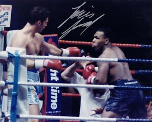 LOU SAVARESE hand-signed MIKE TYSON IN-RING HEAVYWEIGHT FIGHT 8x10 authentic COA