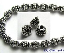 "6"" Strand Bali Sterling Silver 4x3mm Bead Caps <765>"
