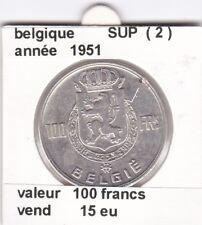 FB )pieces de 100 francs albert I 1951  belgique ( 2 )