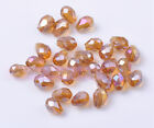 50pcs 7X5mm Free Shipping Crystal Glass Beads Facted Loose Spacer Beads Amber AB