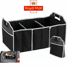 2-in-1 Organiser Car Boot Shopping Tidy Heavy Duty Foldable Collapsible Storage