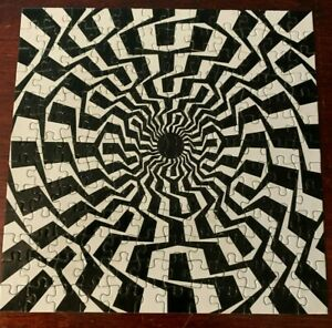 LAGOON GAMES Optical Illusion Jigsaw Puzzle, 156 Pieces Black & White